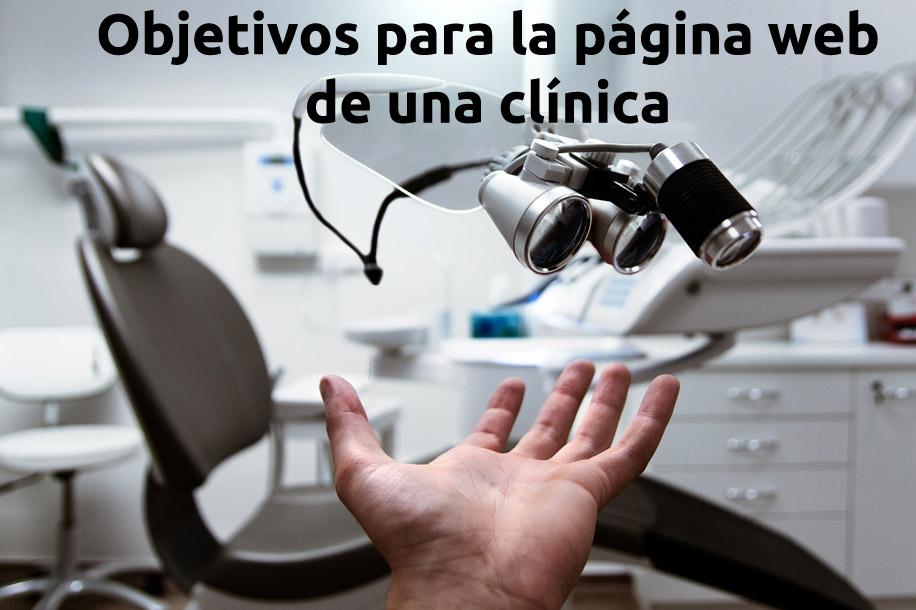 objetivos para la pagina web de una clinica
